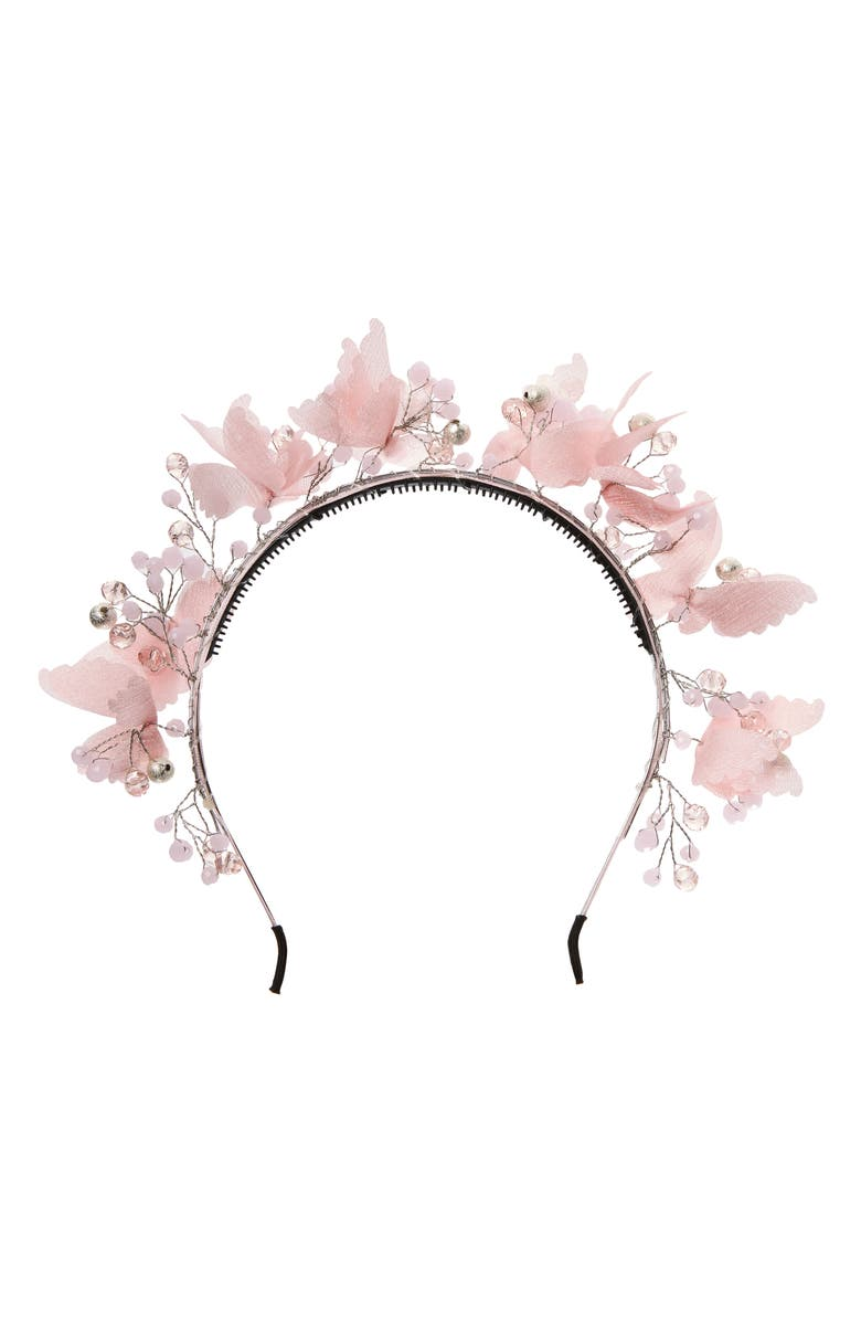 MANIÈRE Butterfly Headband, Main, color, 650