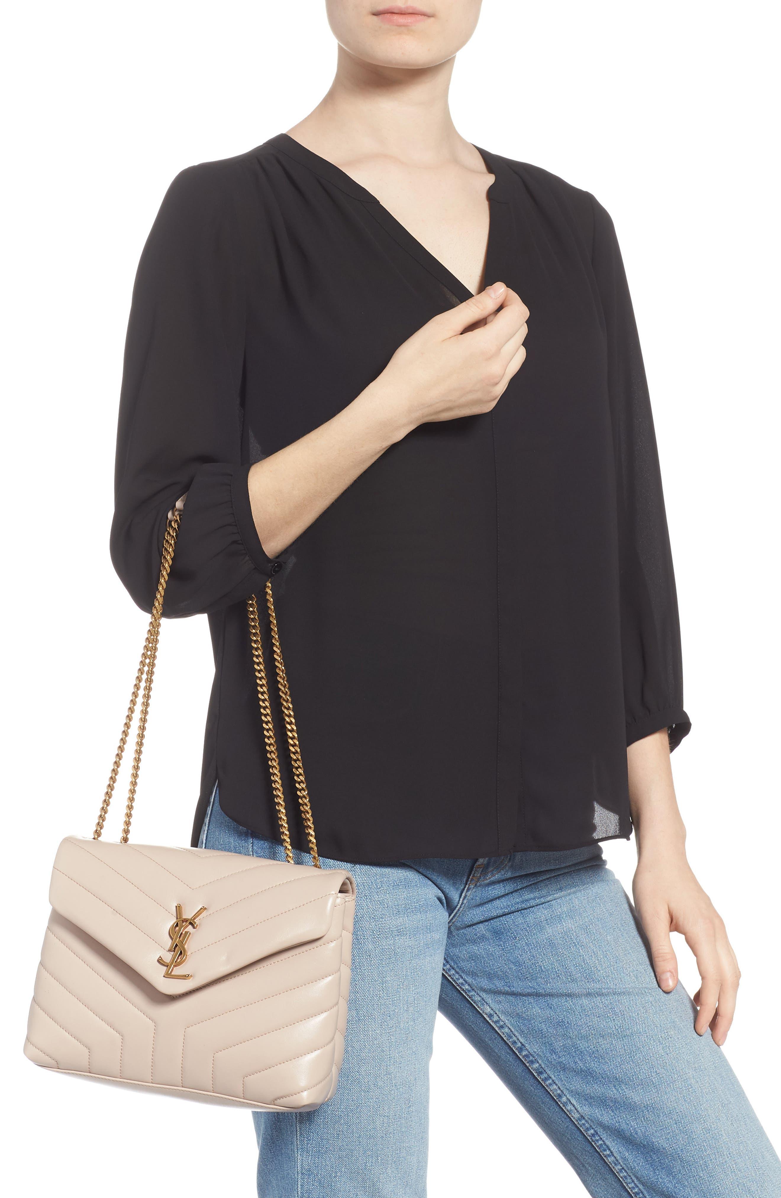,                             Small Loulou Leather Shoulder Bag,                             Alternate thumbnail 7, color,                             250