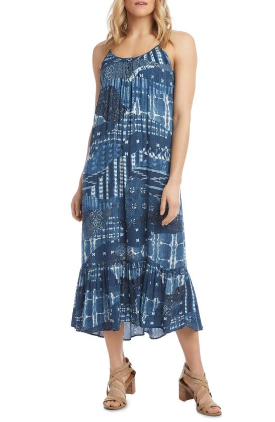 Karen Kane SLEEVELESS RUFFLE HEM MAXI DRESS