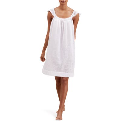 The White Company Swiss Dot Nightgown, White