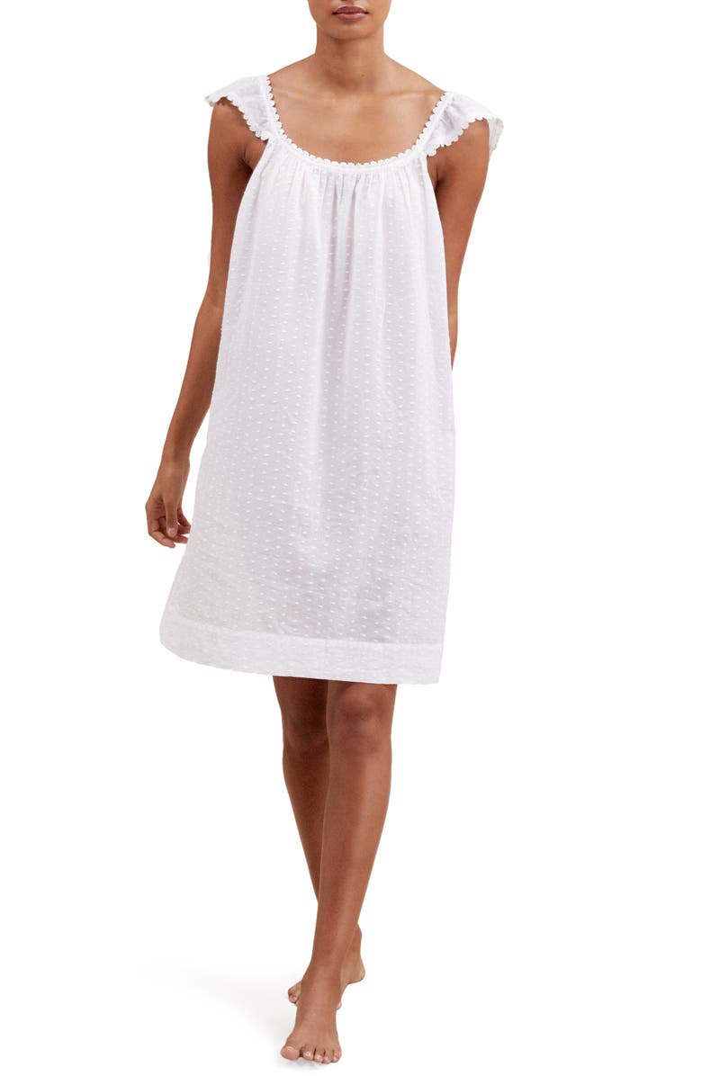 THE WHITE COMPANY Swiss Dot Nightgown, Main, color, 100