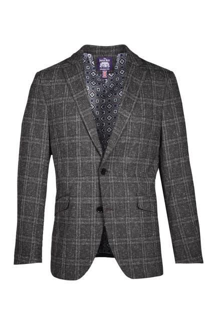Image of SAVILE ROW CO Gray Plaid Sport Coat