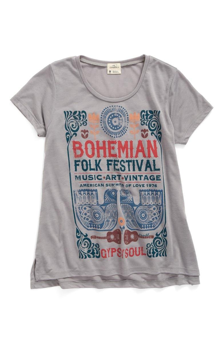 b376a1ba7 O'Neill 'Bohemian Folk Festival' Graphic Tee (Little Girls & Big ...