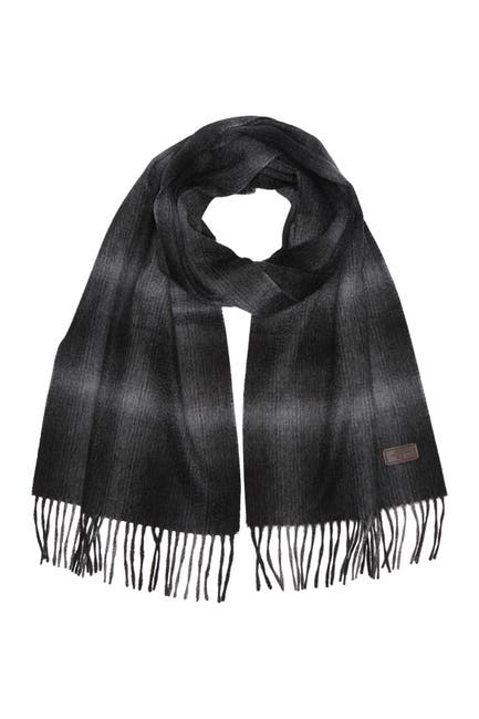 Image of Hickey Freeman Ombre Plaid Cashmere Scarf