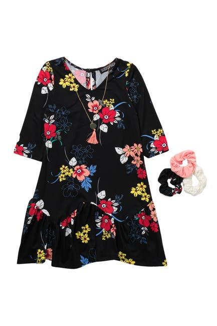 Image of Trixxi Floral Dress & Accessories Set