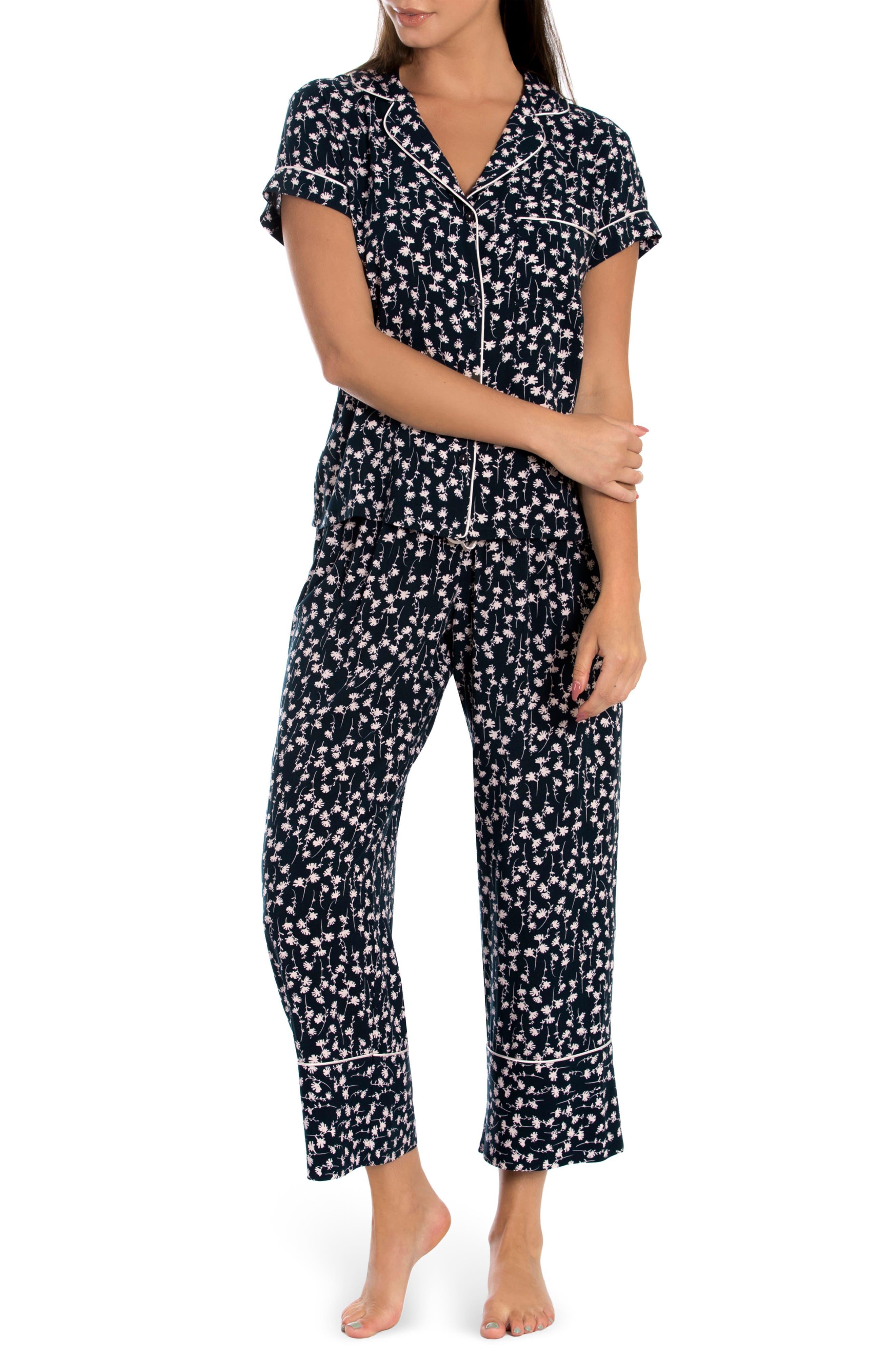 Callie Floral Crop Pajamas