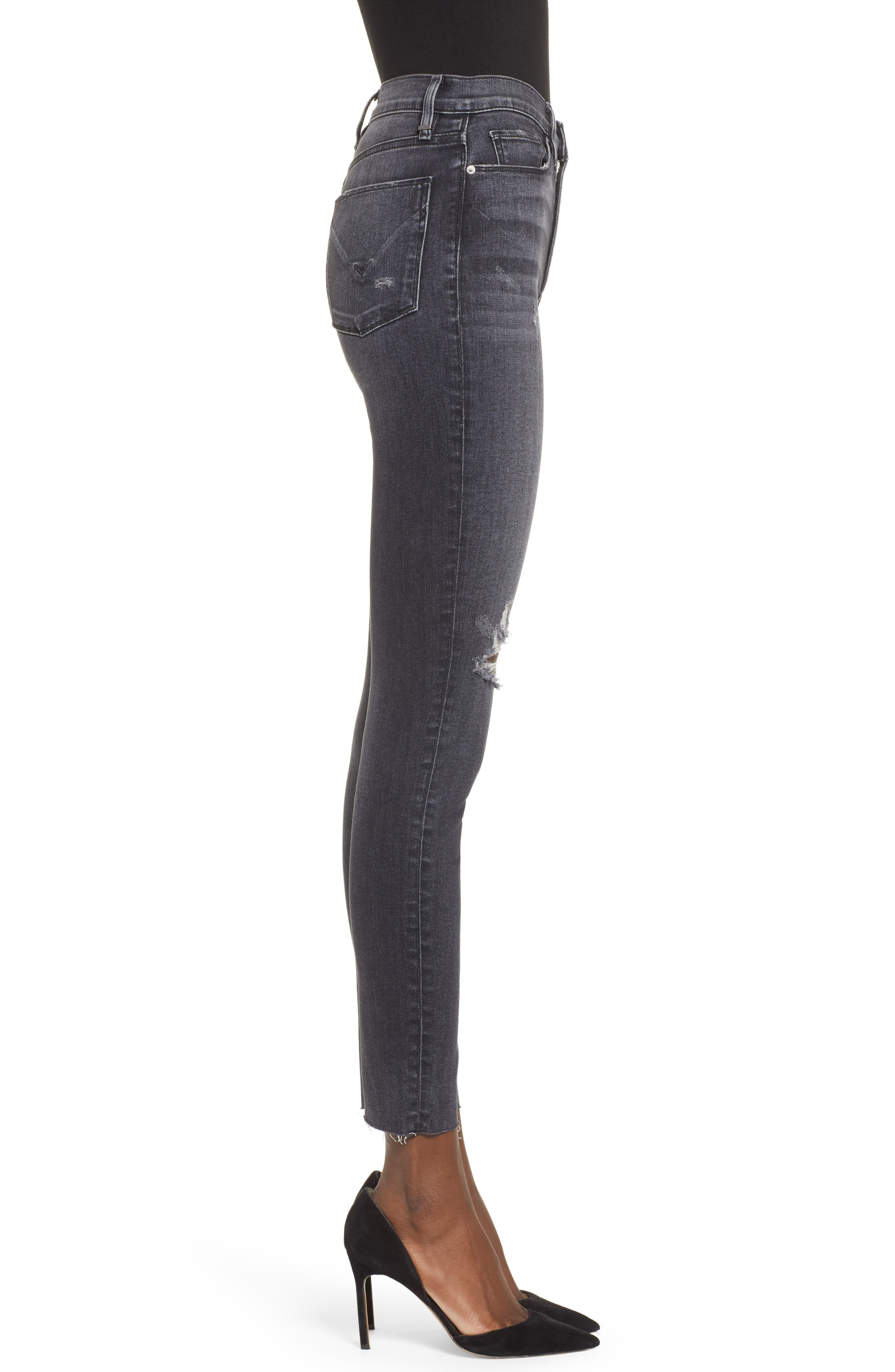 ,                             Barbara Distressed High Waist Ankle Skinny Jeans,                             Alternate thumbnail 4, color,                             WORN KONA