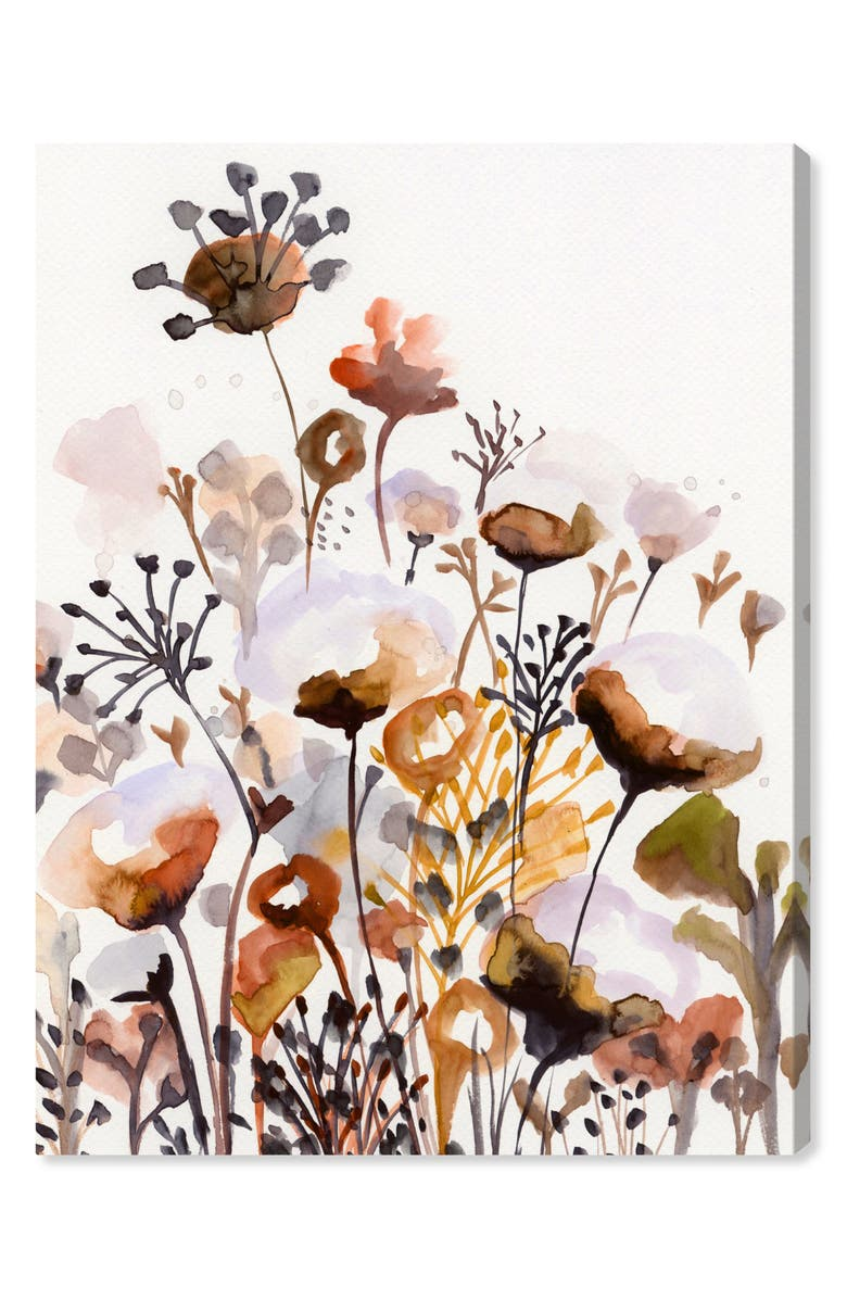 OLIVER GAL Deep Forest Earthy Brown Canvas Wall Art, Main, color, BROWN ORANGE WHITE