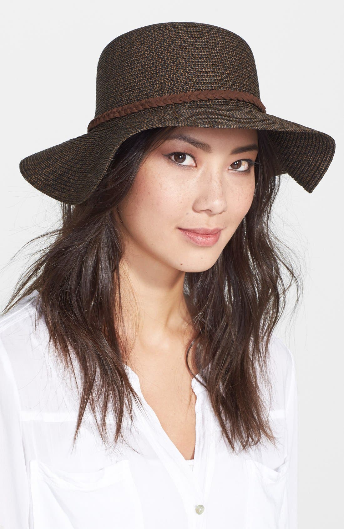 ,                             Straw Floppy Hat,                             Main thumbnail 12, color,                             201