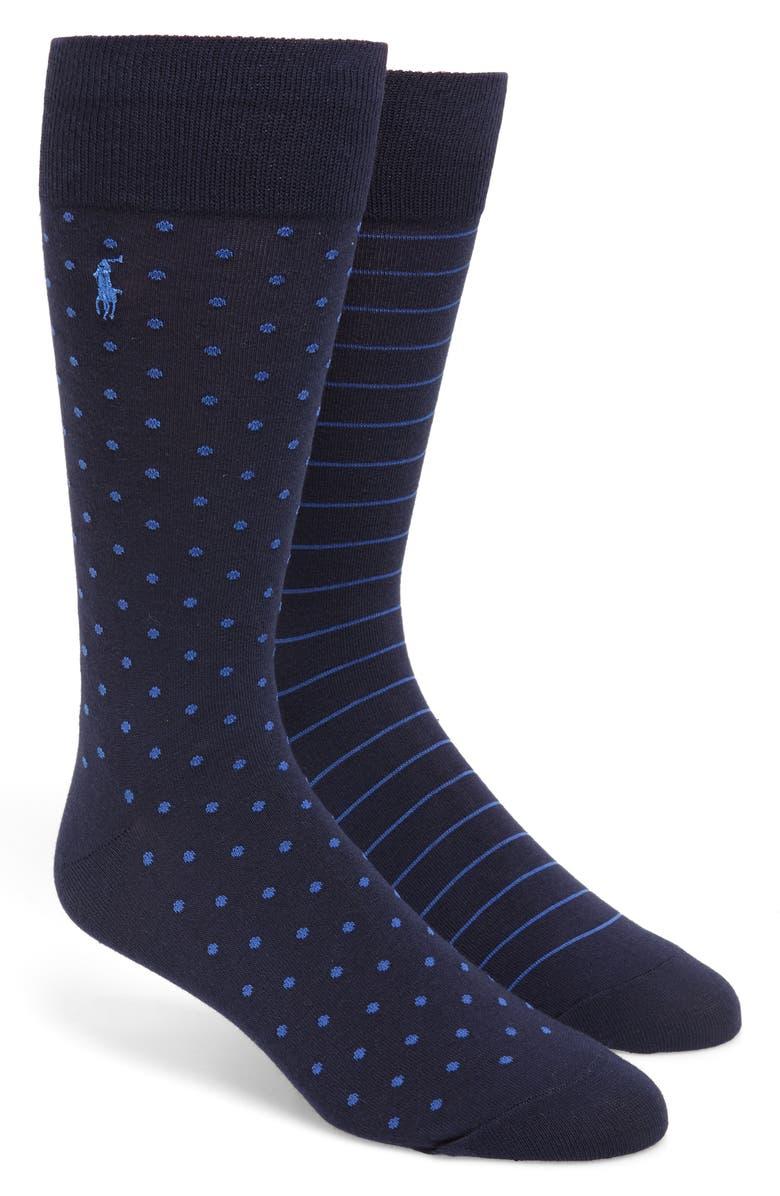 POLO RALPH LAUREN 2-Pack Neats Slack Socks, Main, color, 401