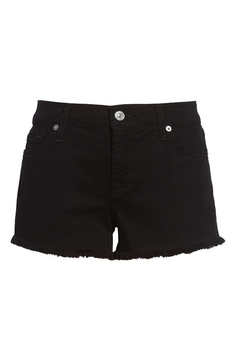 7 FOR ALL MANKIND<SUP>®</SUP> Cutoff Shorts, Main, color, BLACK