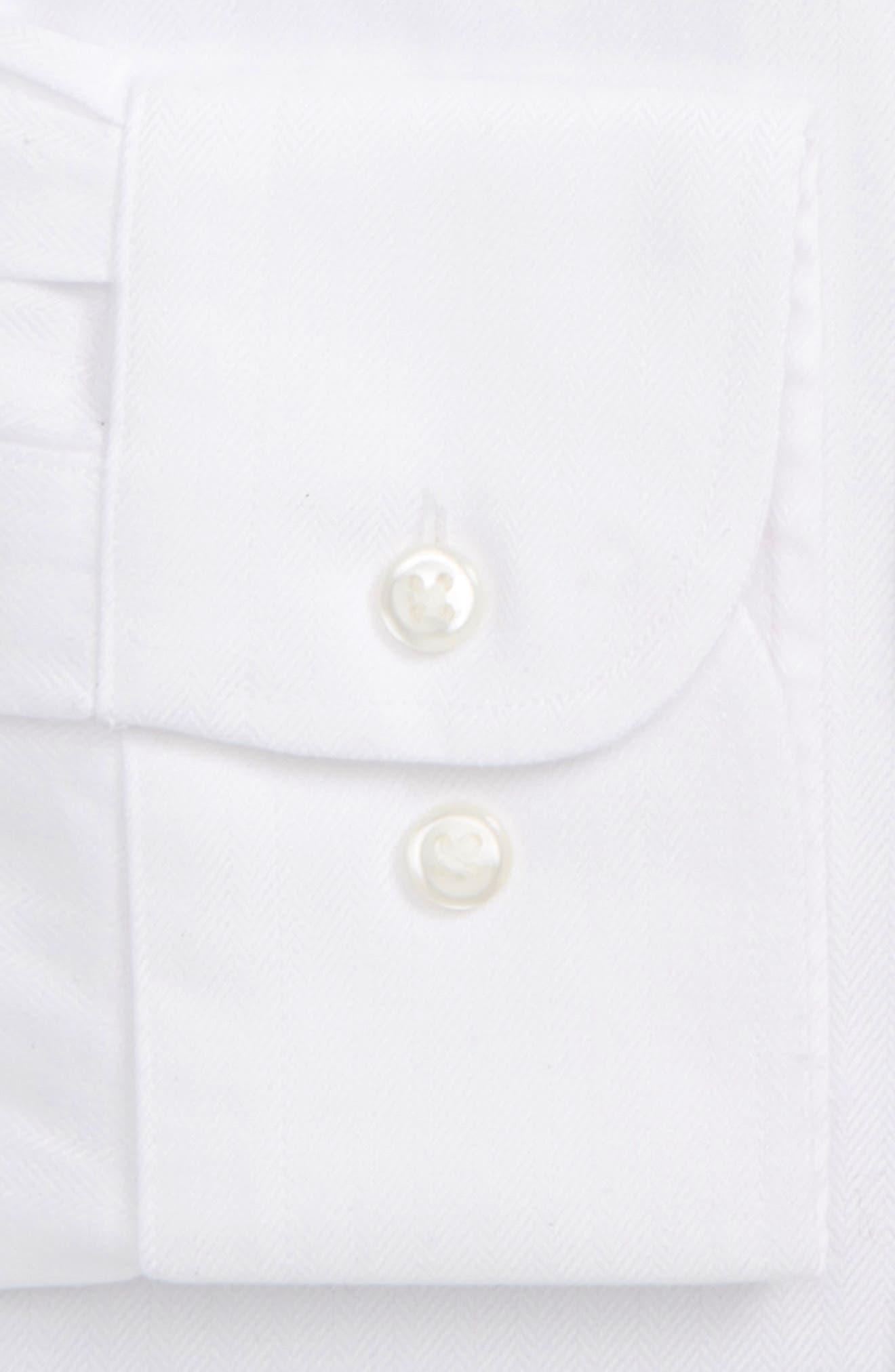 ,                             Smartcare<sup>™</sup> Classic Fit Herringbone Dress Shirt,                             Alternate thumbnail 2, color,                             100
