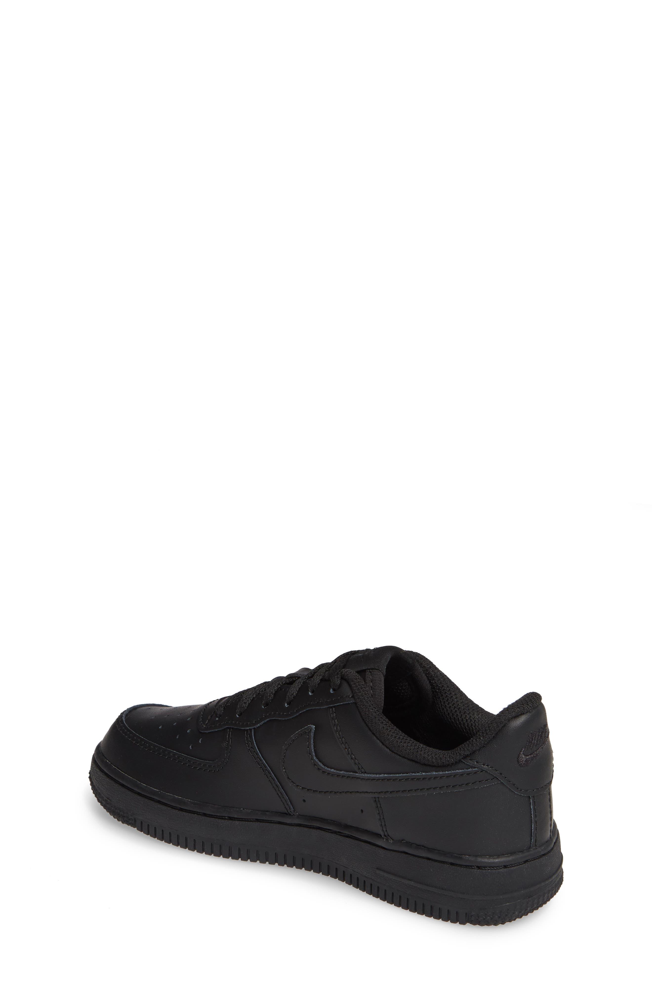 ,                             Air Force 1 Sneaker,                             Alternate thumbnail 2, color,                             BLACK/ BLACK