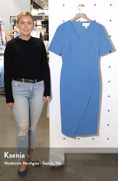 Daissa Faux Wrap Sheath Dress, sales video thumbnail