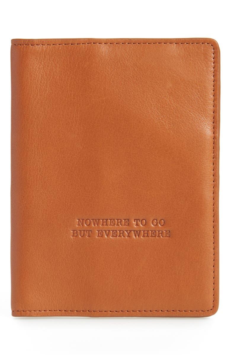 HOBO Quest Calfskin Leather Passport Wallet, Main, color, 200