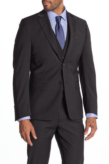 Image of Calvin Klein Milo Notch Collar Skinny Fit Suit Separate Jacket