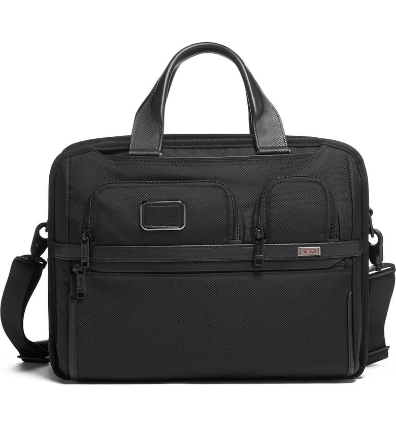 TUMI Alpha 3 Collection T-Pass<sup>®</sup> Briefcase, Main, color, BLACK
