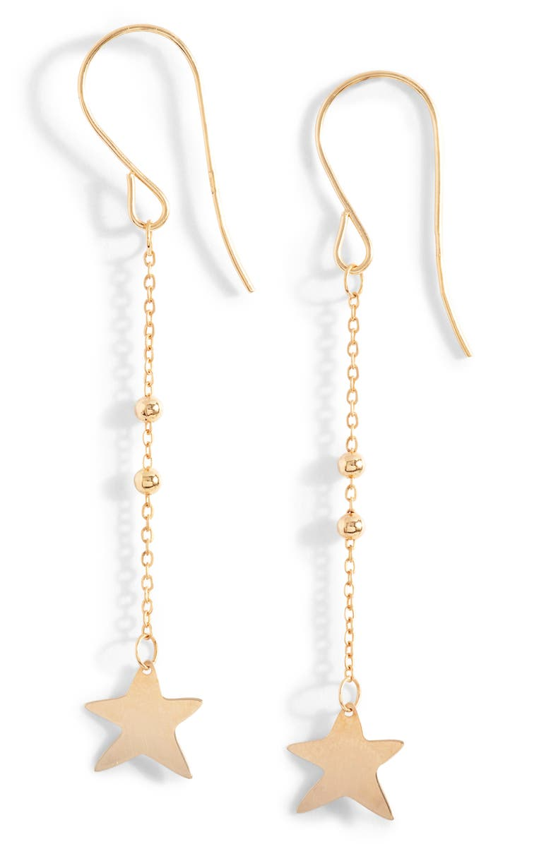 BONY LEVY 14K Gold Star Drop Earrings, Main, color, YELLOW GOLD