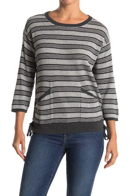 Image of Wit & Wisdom Stripe Side Tie Knit Sweater