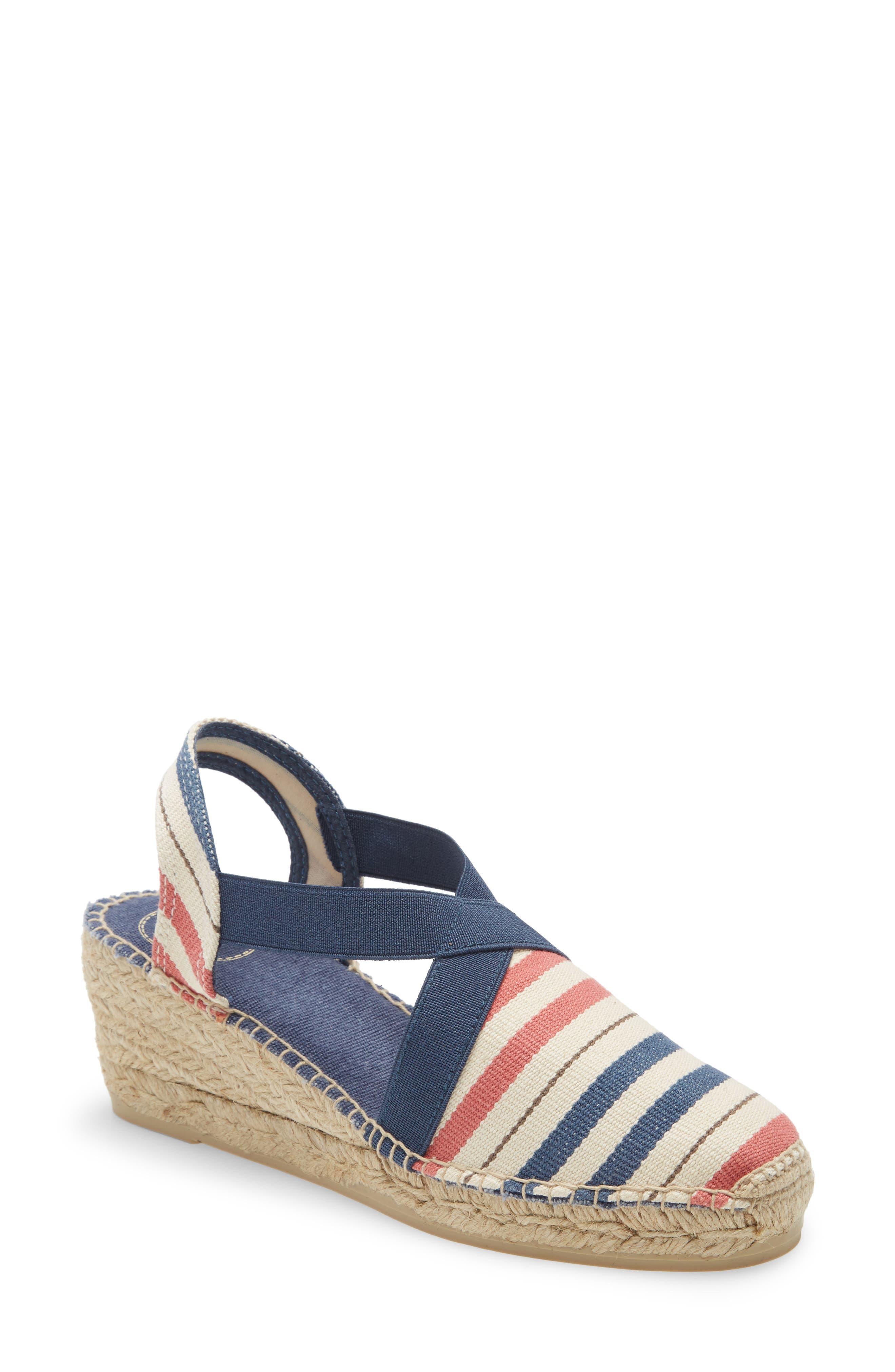 1930s Style Shoes – Art Deco Shoes Womens Toni Pons Tarbes Espadrille Wedge Sandal Size 11US  42EU - Blue $120.00 AT vintagedancer.com