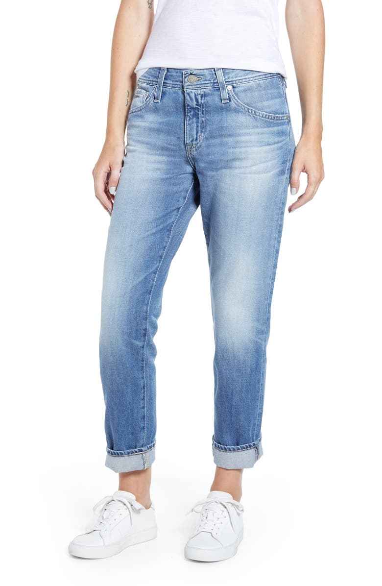 AG The Ex-Boyfriend Ripped Ankle Slim Jeans, Main, color, 476