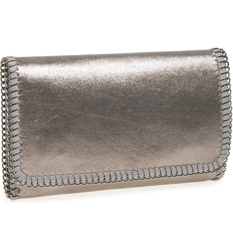 PHASE 3 'Metallic Chain' Foldover Clutch, Main, color, 040