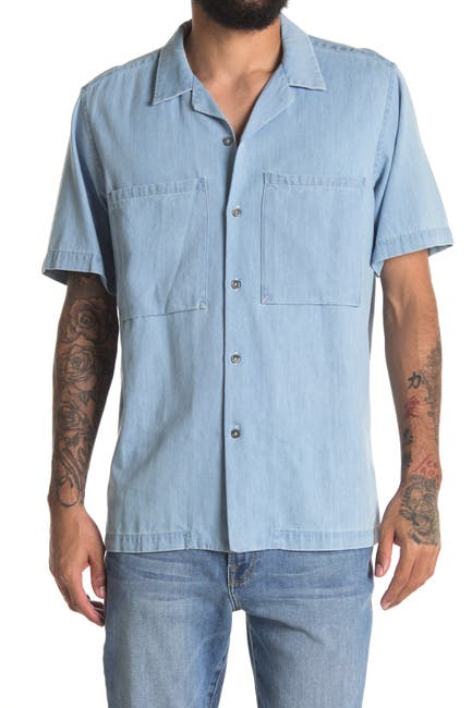 Image of BALDWIN Morby Short Sleeve Slim Fit Shirt