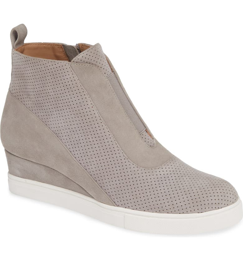 LINEA PAOLO Anna Wedge Sneaker, Main, color, ROCK PER SUEDE