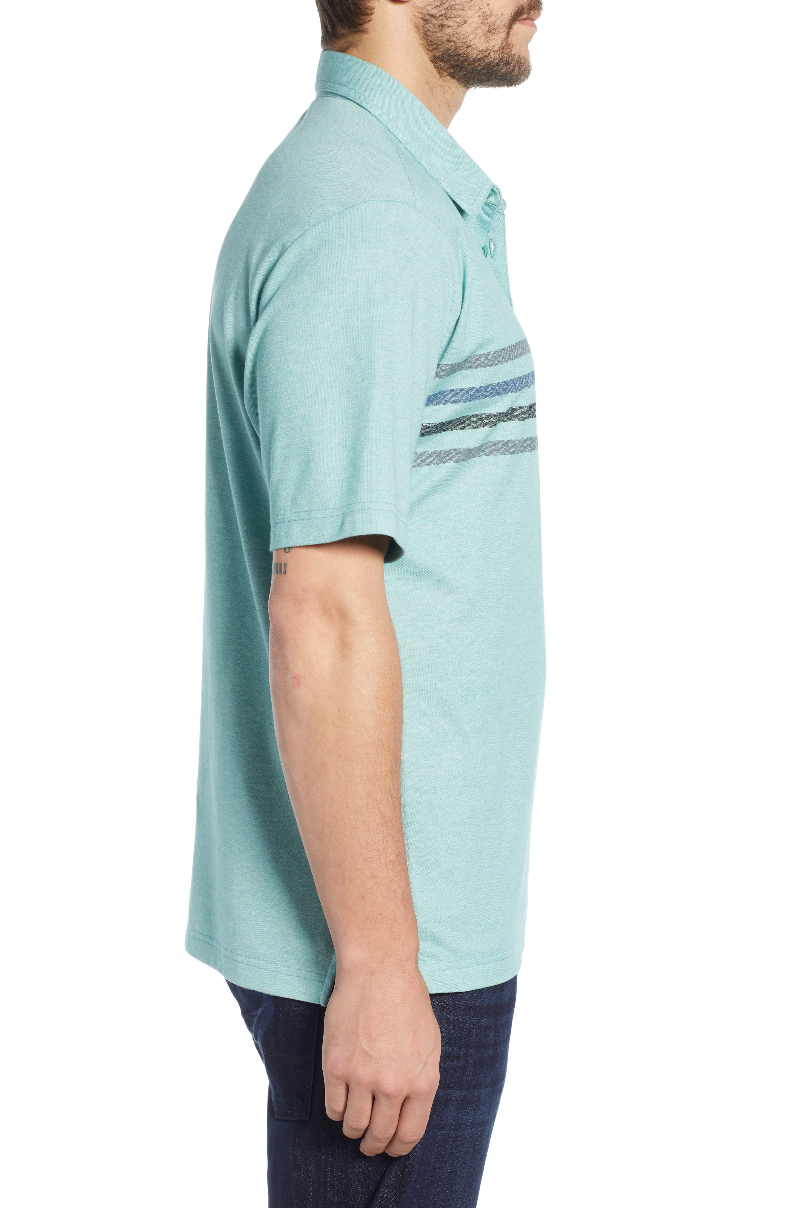 ,                             Oh Snap Regular Fit Performance Polo,                             Alternate thumbnail 3, color,                             HEATHER BERYL GREEN