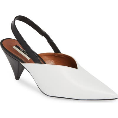 Topshop Slingback Pointy Toe Pump- White