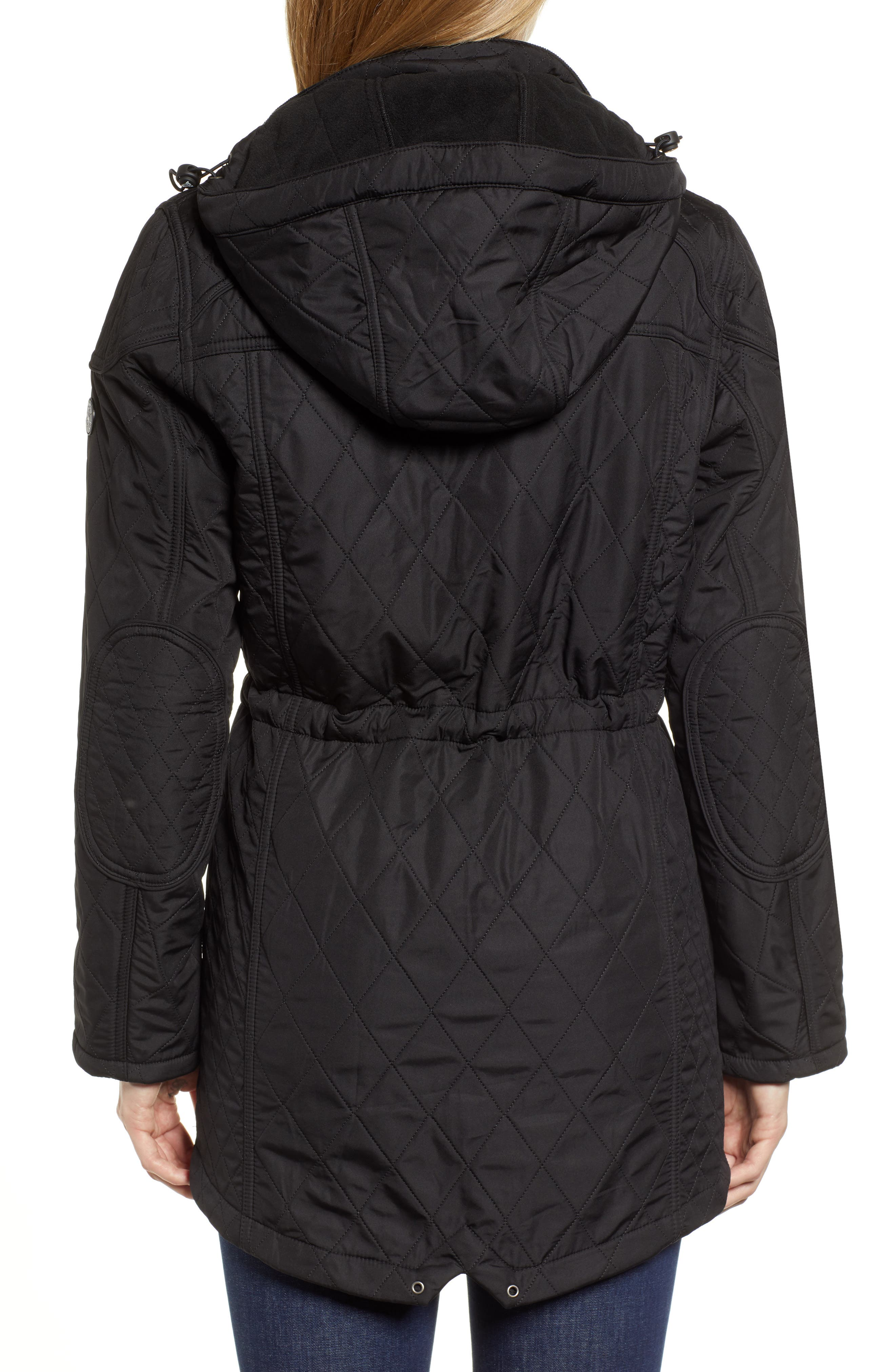 ,                             'Arrow' Quilted Anorak,                             Alternate thumbnail 9, color,                             001