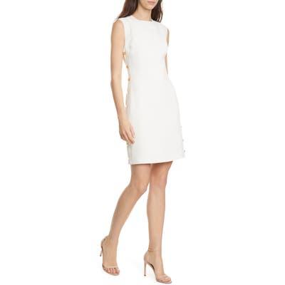 Club Monaco Button Sheath Dress, Ivory
