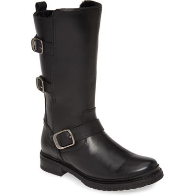 Frye Veronica Weatherproof Genuine Shearling Boot- Black