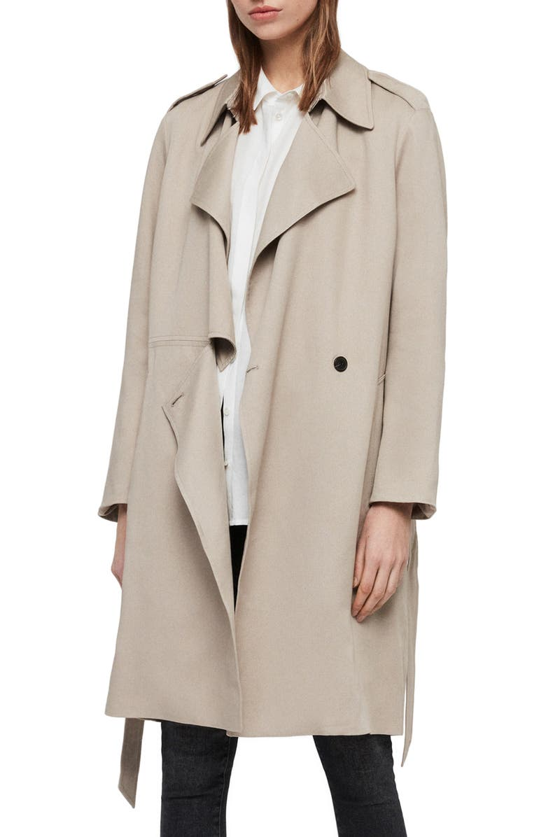 ALLSAINTS Bexley Mac Jacket, Main, color, 291