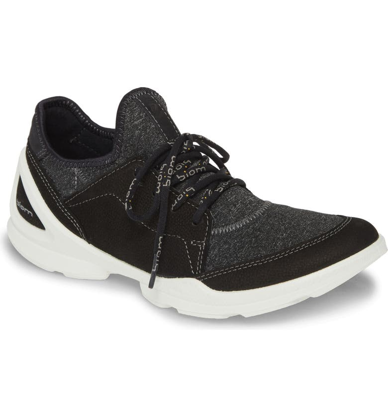 ECCO BIOM Street Sneaker, Main, color, BLACK LEATHER