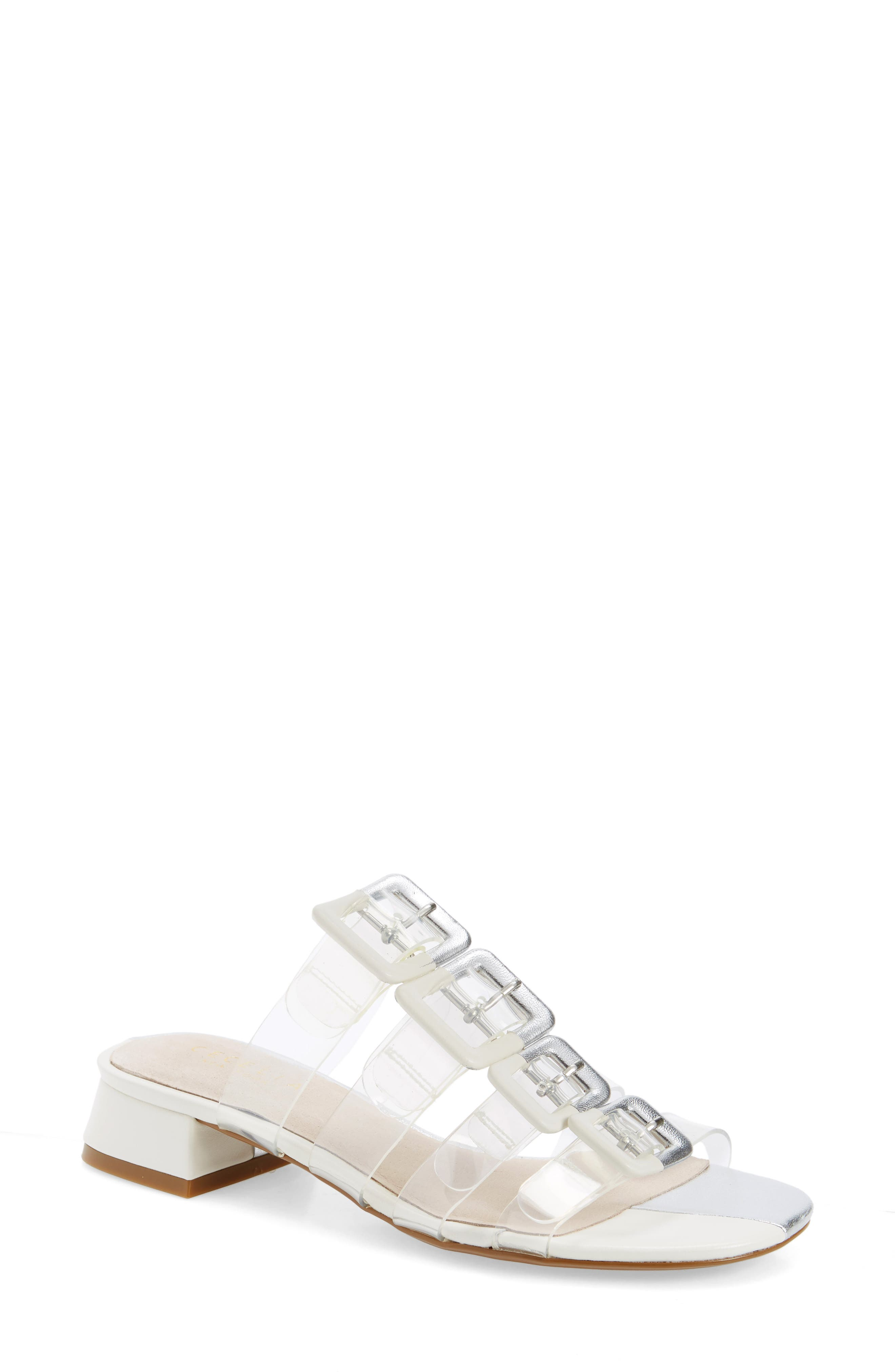 Lincoln Strappy Clear Slide Sandal