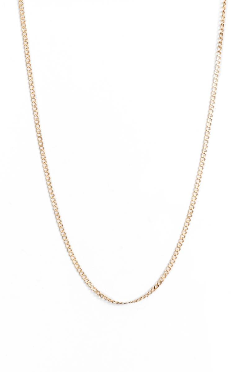 ARGENTO VIVO Chainlink Necklace, Main, color, GOLD