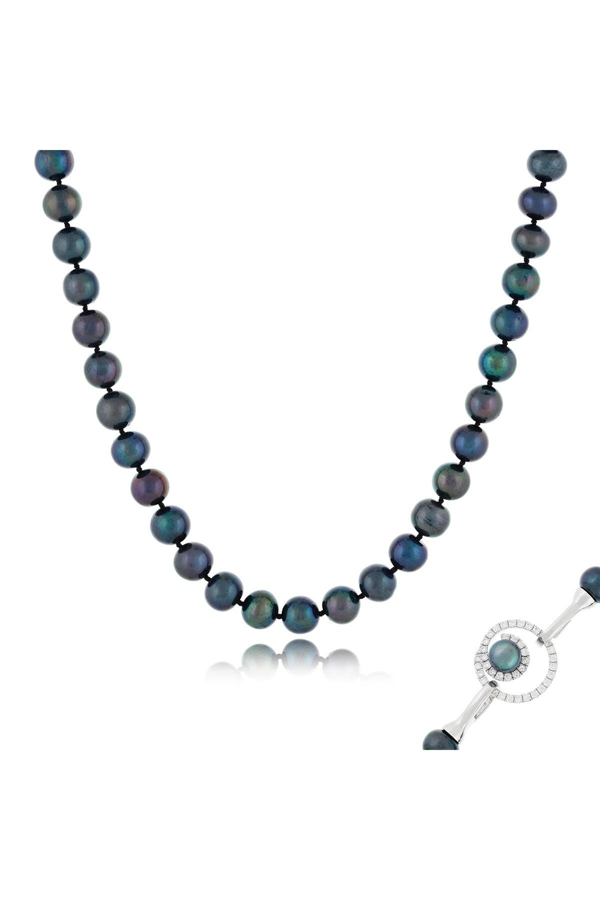 Image of Splendid Pearls 9-10mm Black Freshwater Pearl Necklace