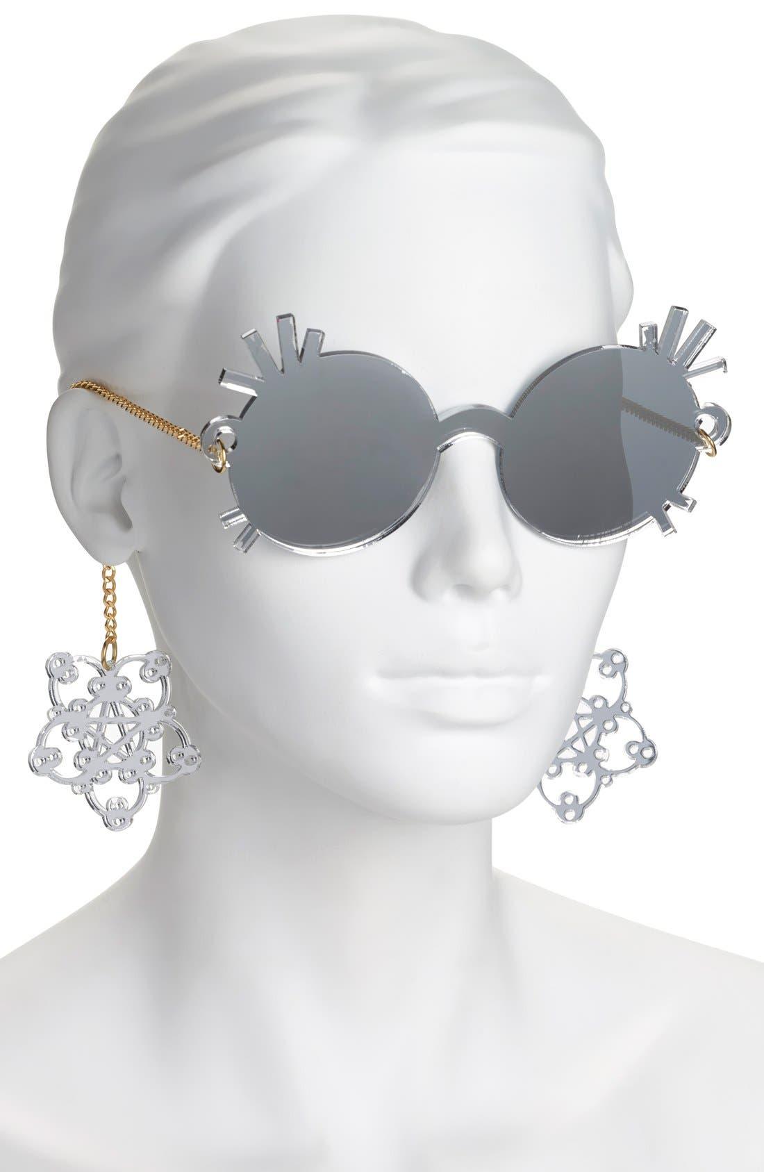 ,                             55mm Novelty Sunglasses,                             Alternate thumbnail 5, color,                             040