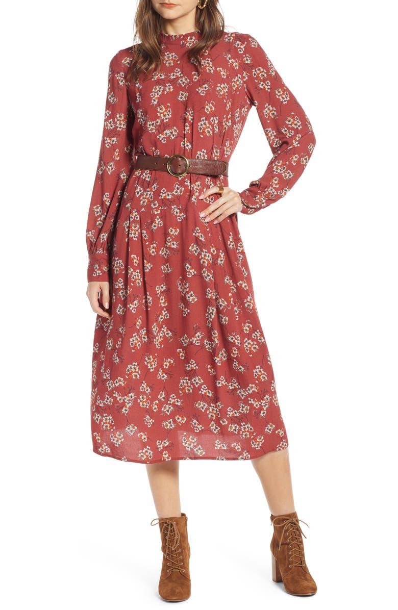 TREASURE & BOND Femme Midi Dress, Main, color, 938