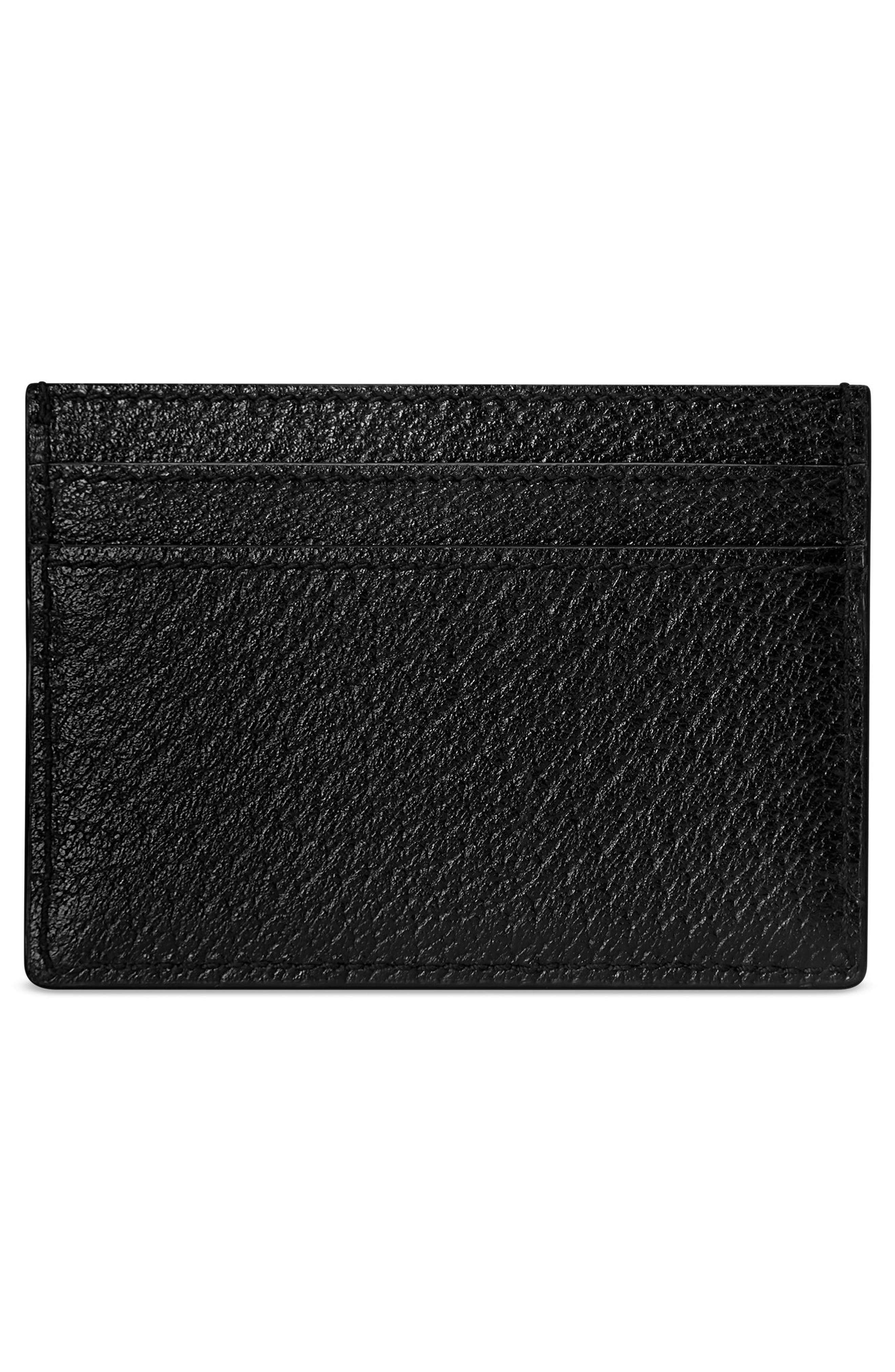 ,                             Ophidia Leather Card Case,                             Alternate thumbnail 2, color,                             NERO/ VERT RED VERT