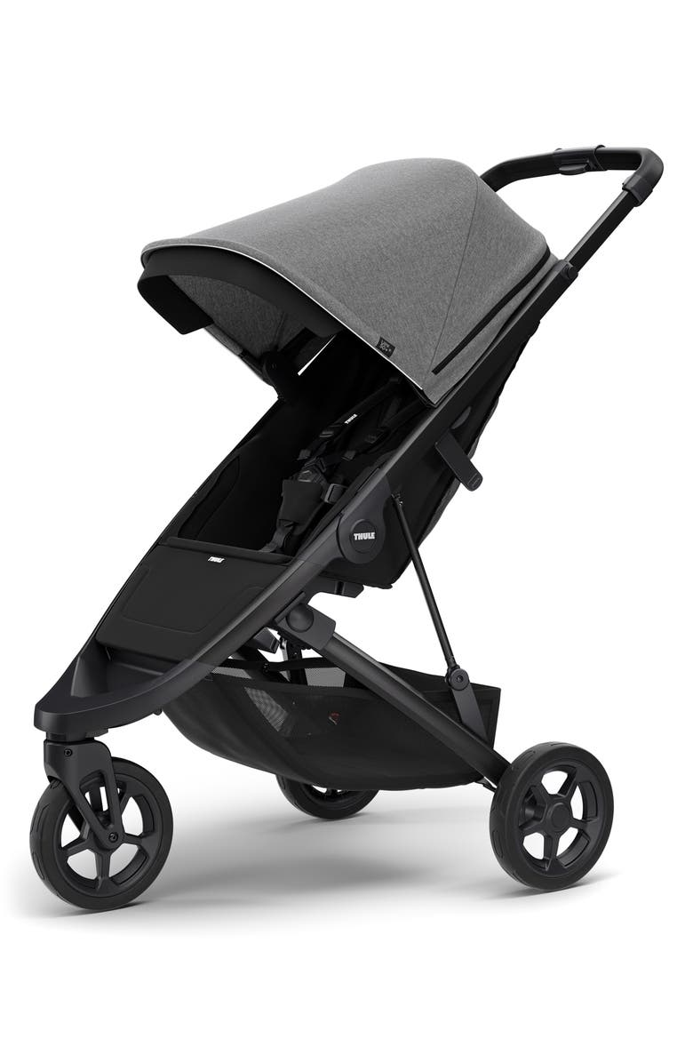 THULE Spring 2020 Single Stroller, Main, color, GREY MELANGE/ BLACK