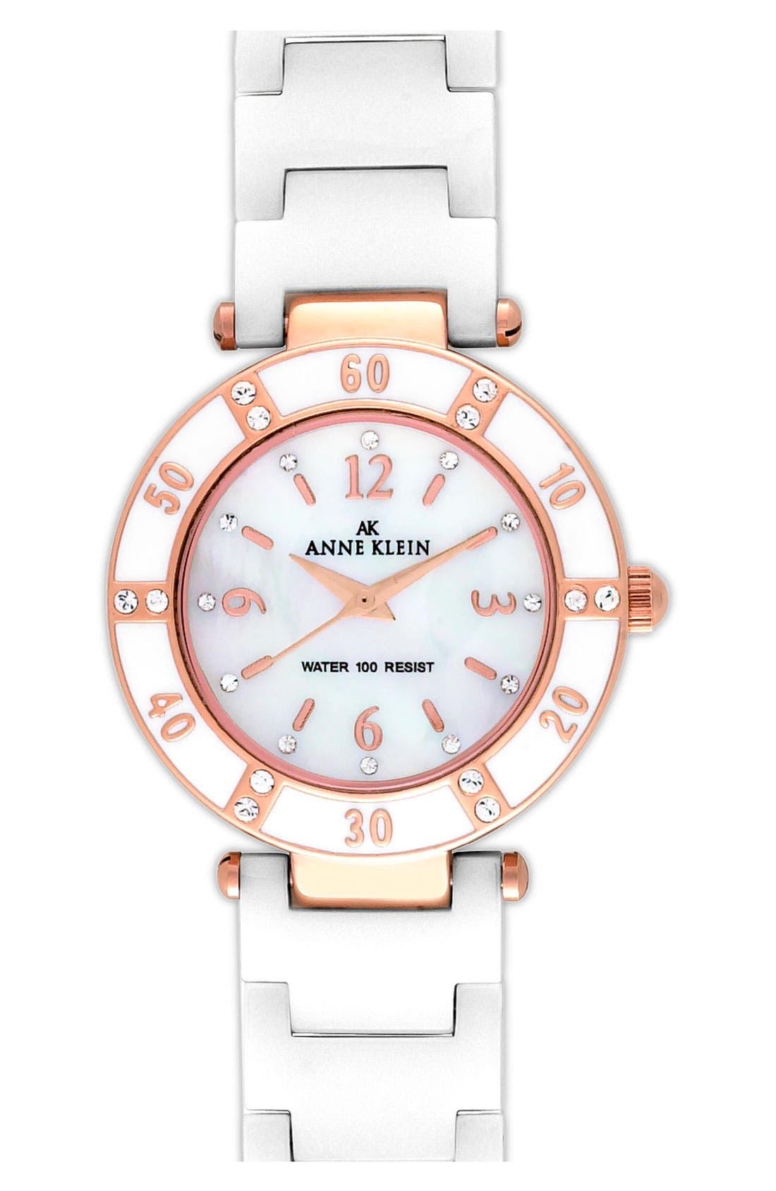 ,                             Round Ceramic Bracelet Watch, 31mm,                             Main thumbnail 4, color,                             100