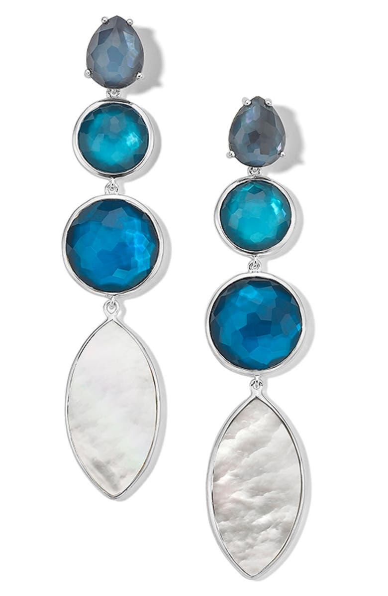 IPPOLITA Four Stone Linear Earrings, Main, color, 400