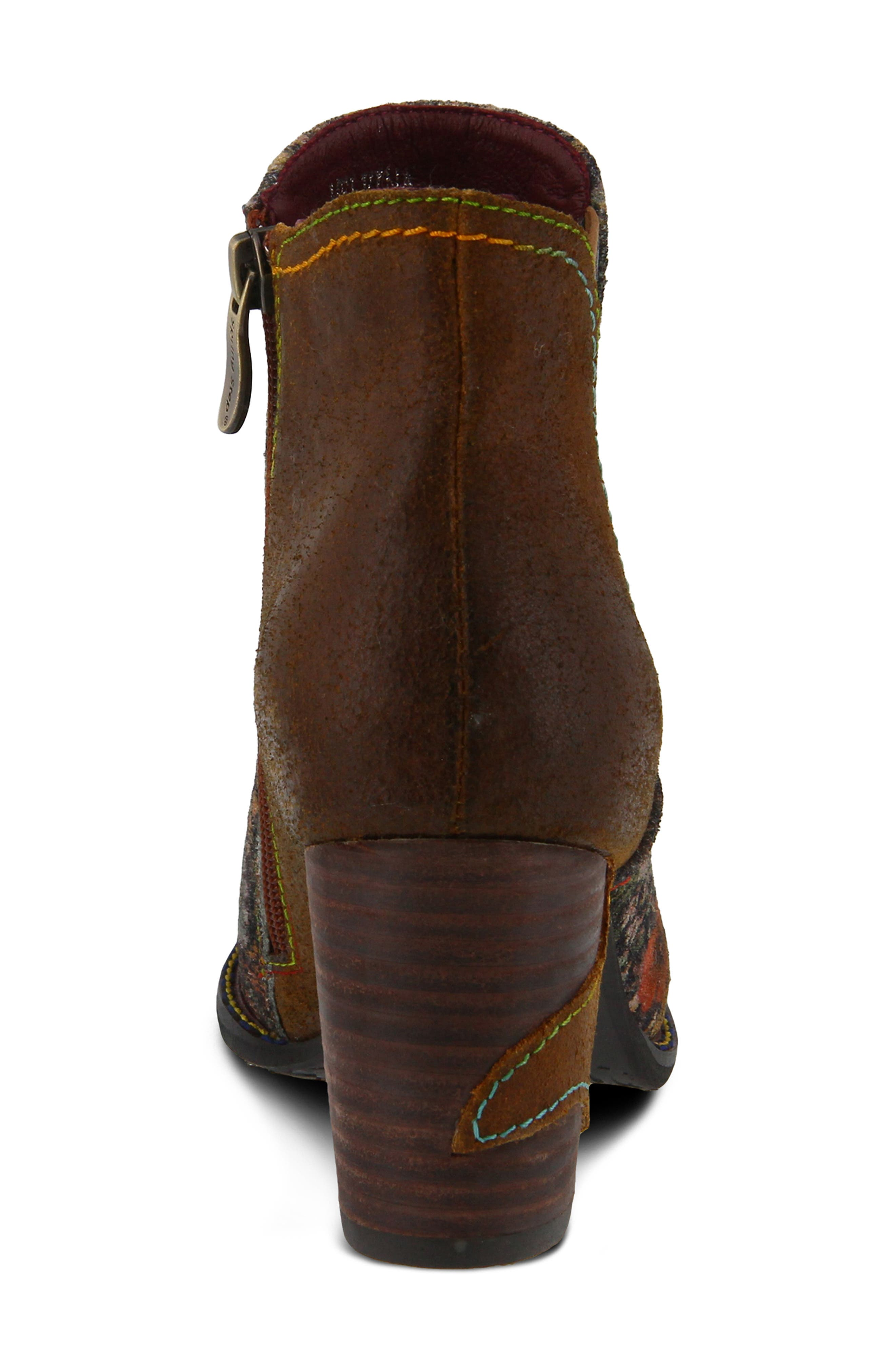 ,                             Melvina Bootie,                             Alternate thumbnail 6, color,                             BROWN MULTI LEATHER