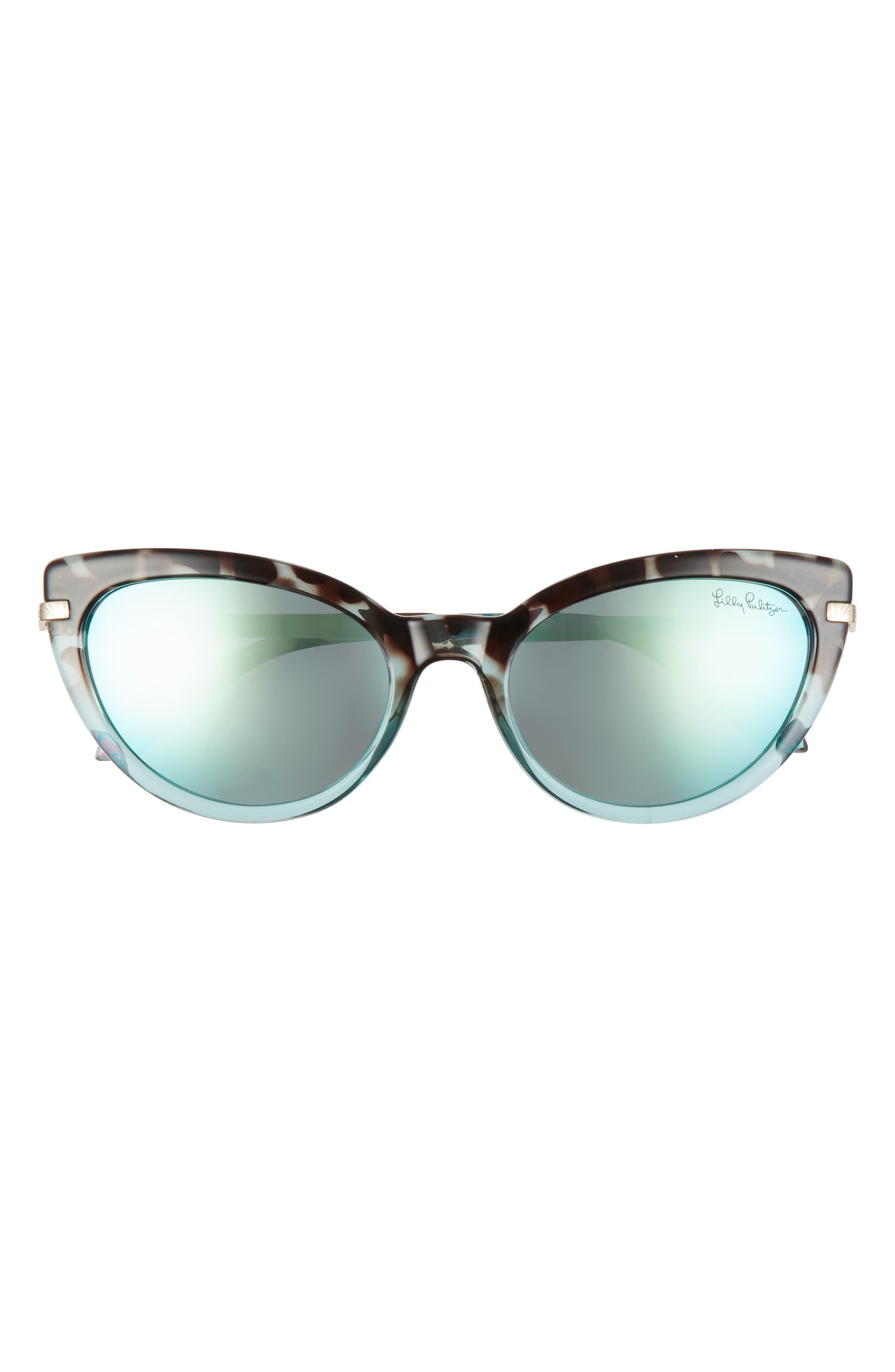 Women's Lilly Pulitzer Halona 55mm Polarized Cat Eye Sunglasses