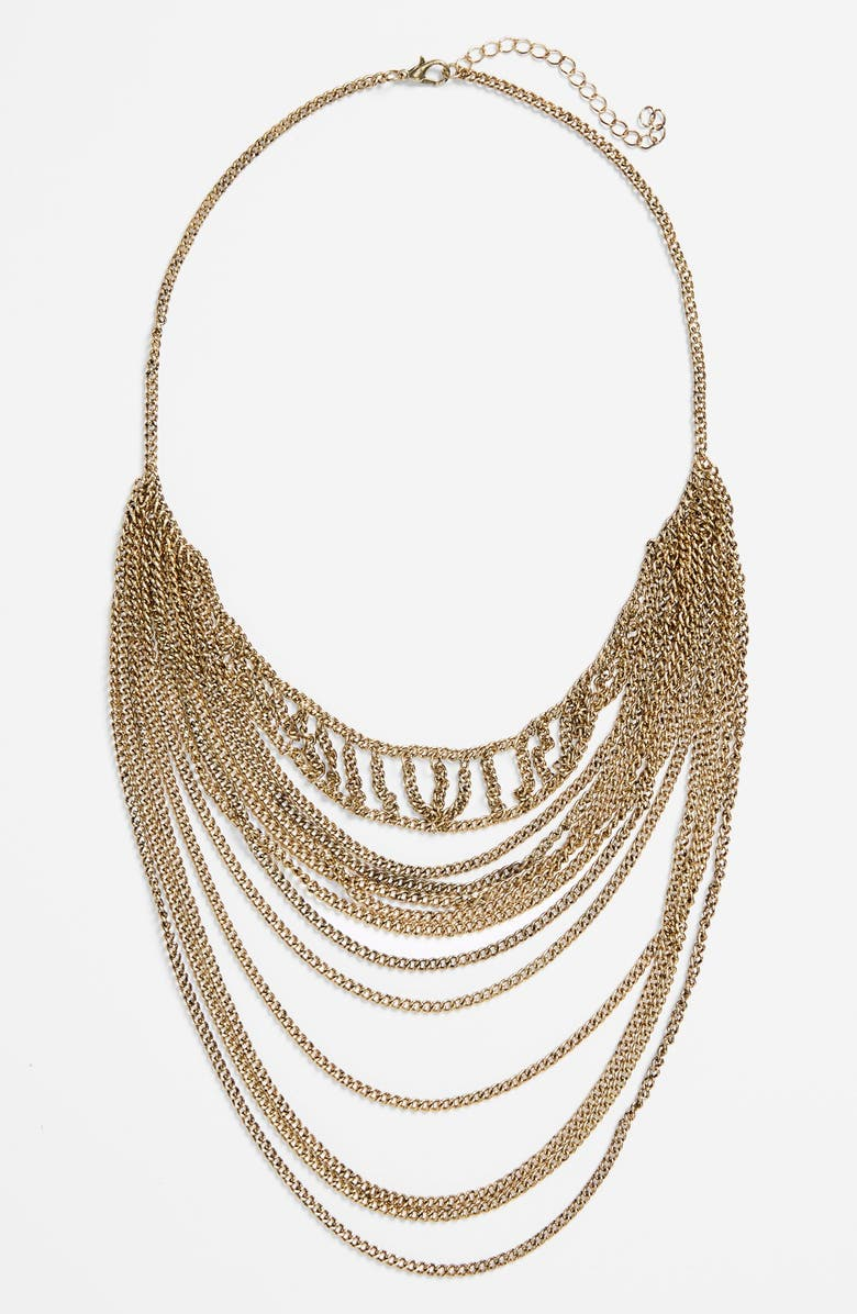 BP. Draped Chain Layering Necklace, Main, color, 710