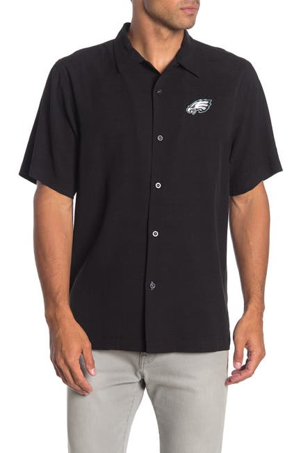 Image of Tommy Bahama NFL Team Embroidered Weekend Forecast Short Sleeve Silk Shirt