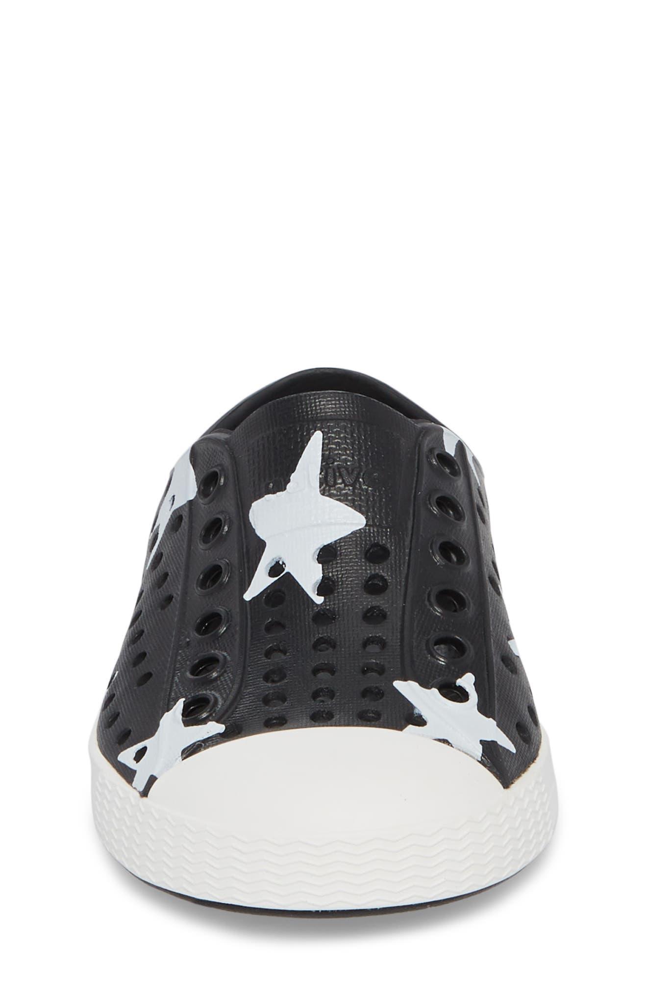 ,                             Jefferson Quartz Slip-On Sneaker,                             Alternate thumbnail 4, color,                             JIFFY BLACK/ WHITE/ STAR
