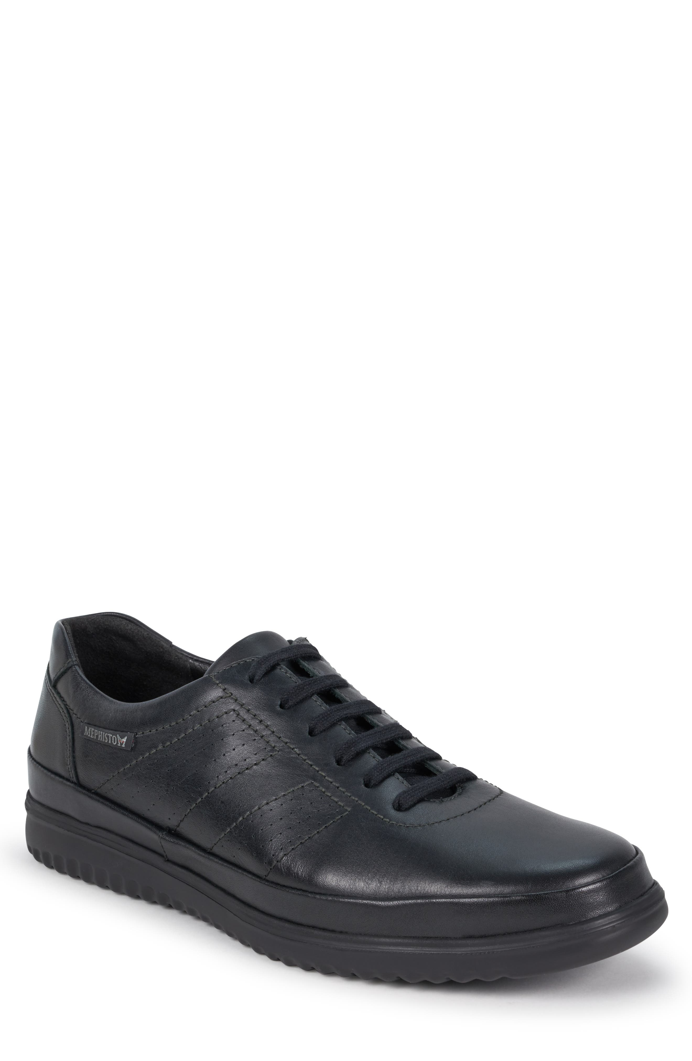 Tomy Sneaker, Main, color, BLACK LEATHER
